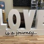 putuplasta burtu izgatavošana LOVE