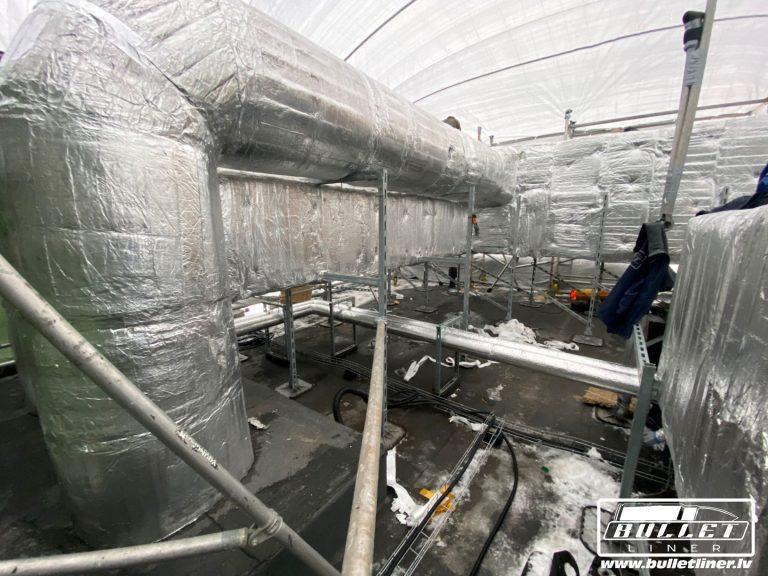 ventilācijas sistēmu krāsošana poliuretāna pārklājums